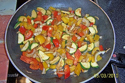 Schnitzelpfanne mit Gemüse 10