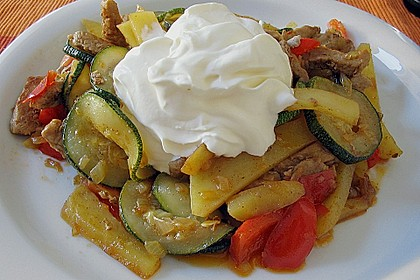 Schnitzelpfanne mit Gemüse 2