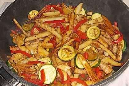 Schnitzelpfanne mit Gemüse 8