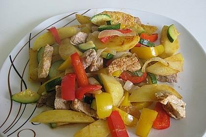 Schnitzelpfanne mit Gemüse 3