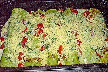 Bärlauch - Pfannkuchen mit Spargel - Schinkenfüllung 25