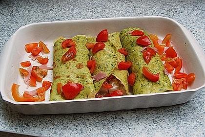 Bärlauch - Pfannkuchen mit Spargel - Schinkenfüllung 18