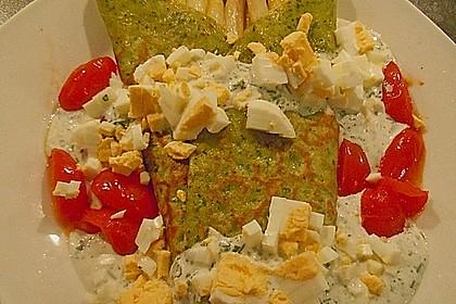 Bärlauch - Pfannkuchen mit Spargel - Schinkenfüllung 4