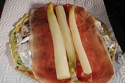 Bärlauch - Pfannkuchen mit Spargel - Schinkenfüllung 12