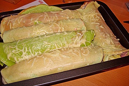 Bärlauch - Pfannkuchen mit Spargel - Schinkenfüllung 21