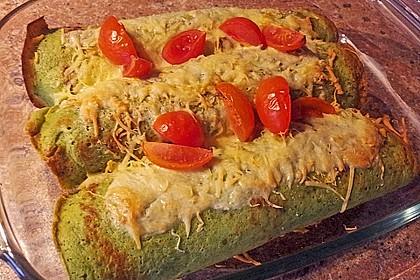 Bärlauch - Pfannkuchen mit Spargel - Schinkenfüllung 11