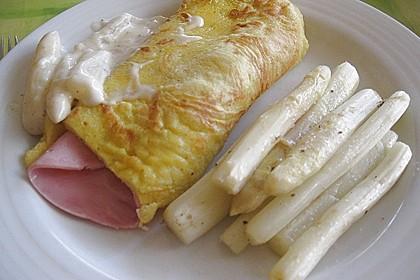 Bärlauch - Pfannkuchen mit Spargel - Schinkenfüllung 16