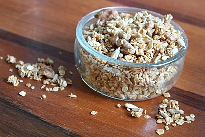 Granola Müsli selbstgebacken (Bild)