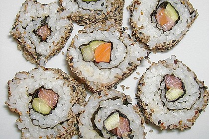 California Rolls inside - out 5