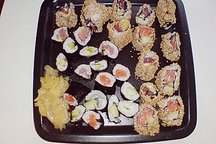 California Rolls inside - out 15