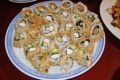 California Rolls inside - out 8