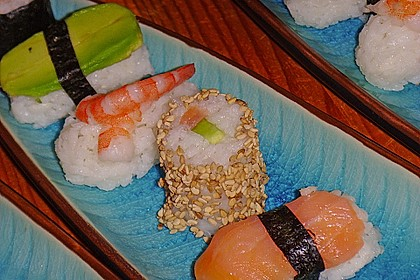 California Rolls inside - out 4
