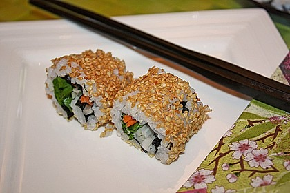 California Rolls inside - out 3