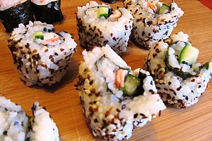 California Rolls inside - out 16