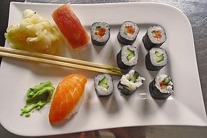 California Rolls inside - out 9
