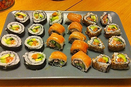 California Rolls inside - out 7