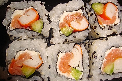 California Rolls inside - out 11