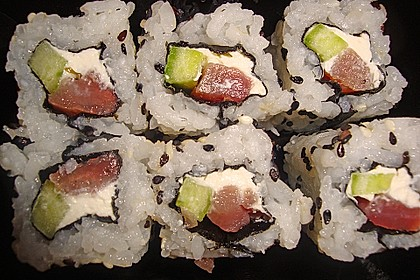 California Rolls inside - out 6