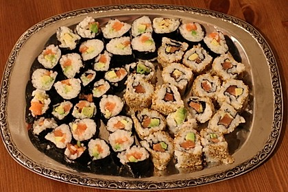 California Rolls inside - out 1