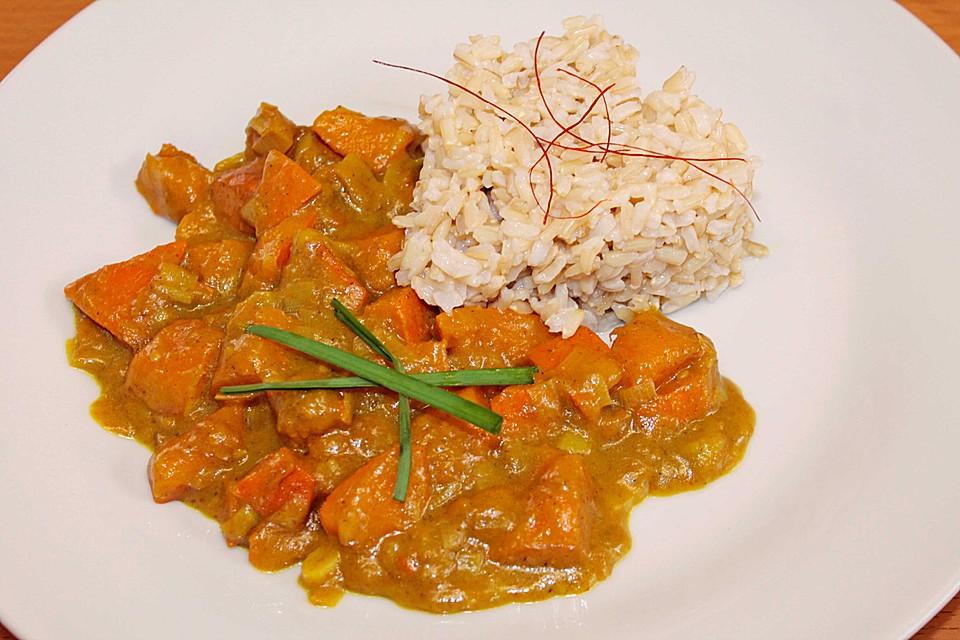Kokos Kürbis Curry Von Monddrache Chefkoch