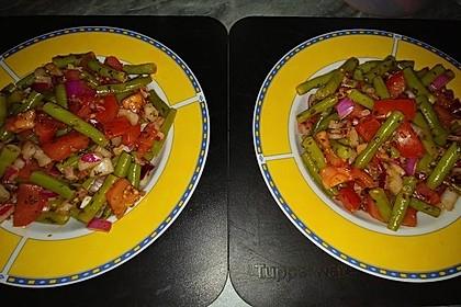 Bohnen - Tomatensalat mit Speck 7
