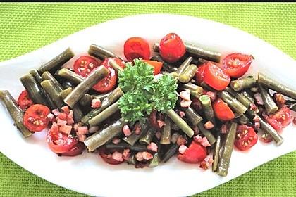 Bohnen - Tomatensalat mit Speck 4