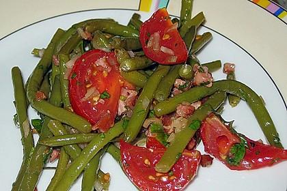 Bohnen - Tomatensalat mit Speck
