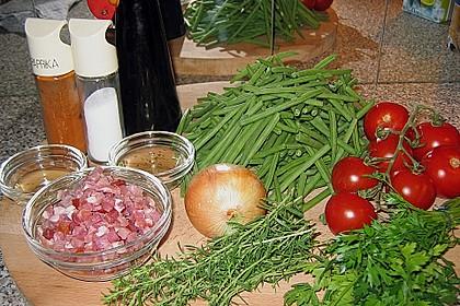 Bohnen - Tomatensalat mit Speck 10