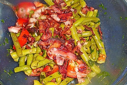 Bohnen - Tomatensalat mit Speck 3