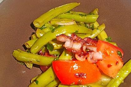 Bohnen - Tomatensalat mit Speck 11