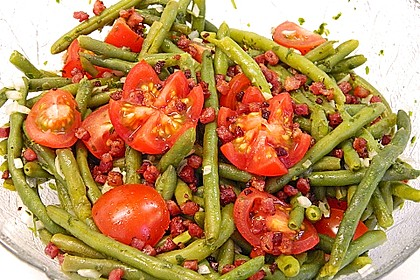 Bohnen - Tomatensalat mit Speck 2