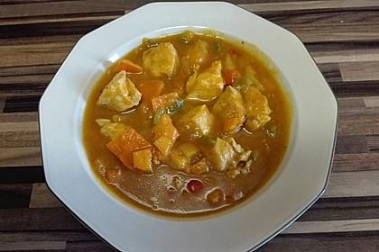 Huhn-Kürbis-Curry-Eintopf