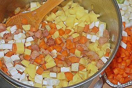 Kartoffelsuppe mit Speck 6