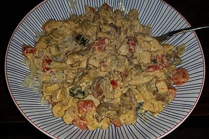 Puten - Reis Pfanne mit Paprika und Zucchini 5