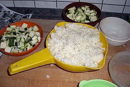 Puten - Reis Pfanne mit Paprika und Zucchini 6
