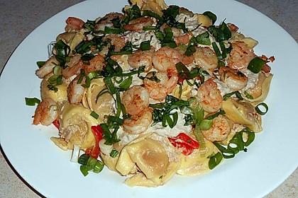 Tortellini & Scampi in Thunfischsoße