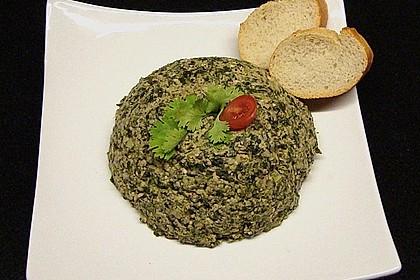 Spinat mit Walnüssen auf georgischer Art 1