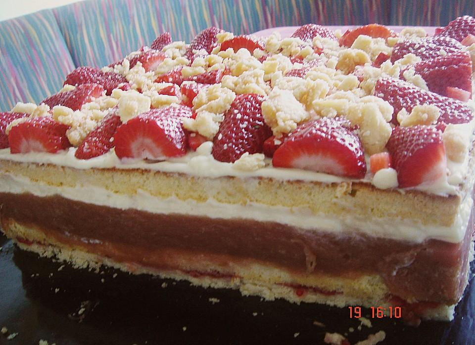 Erdbeer Rhabarber Schnitten Von Alina1st Chefkoch De