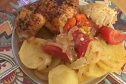 Arabisches Zitronen - Knoblauch Huhn mit Kartoffeln und Zwiebeln 7
