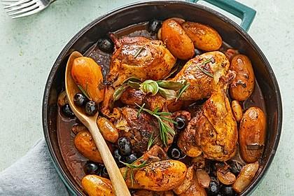 Geschmortes Olivenhähnchen