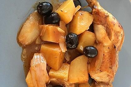 Geschmortes Olivenhähnchen 14