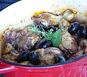 Geschmortes Olivenhähnchen (Bild)