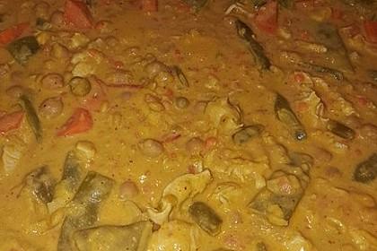 Indisches Hähnchencurry mit Kichererbsen 15