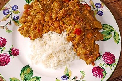 Indisches Hähnchencurry mit Kichererbsen 10