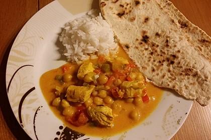 Indisches Hähnchencurry mit Kichererbsen 18