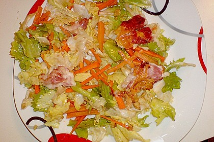 Ziegenkäsebällchen im Speckmantel auf Karotten - Endivien - Salat 1