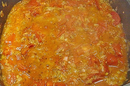 Bandnudeln mit Tomaten - Gorgonzola - Sauce 7