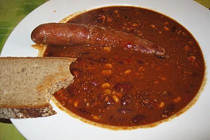 Rote ungarische Bohnensuppe 3