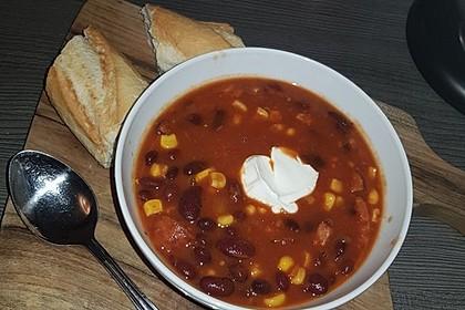 Rote ungarische Bohnensuppe