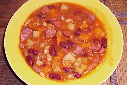 Rote ungarische Bohnensuppe 7